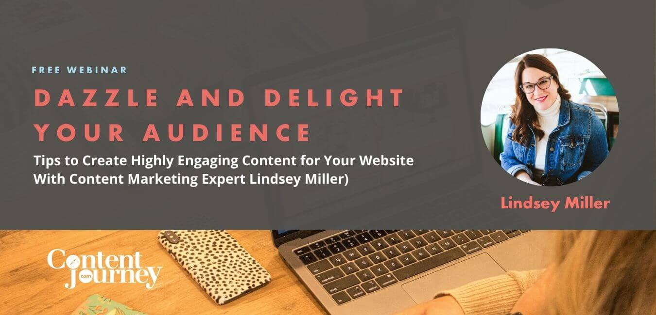 Webinar slide: Dazzle and Delight Your Audience with Lindsey Miller